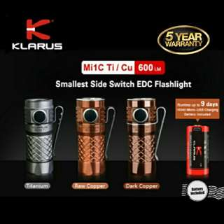 Klarus Mi1C Copper/Titanium Mini Flashlight