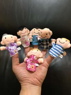 Happy Family Finger Puppets (Set of 6)