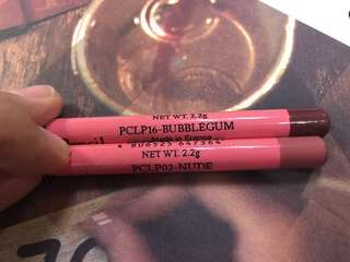 Bundle made in France: 2 Smooth Silky Long Liner Pencil in Nude and Bubblegum