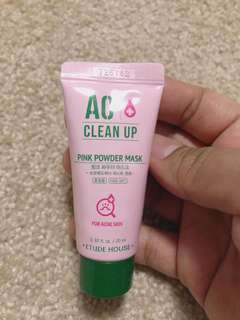Etude House AC pink mask (for acne prone skin)