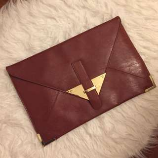 Brown Portfolio Clutch
