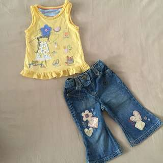 Girl's Set Mothercare & M&S