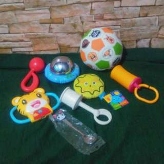 TAKE ALL RATTLES/TOYS/TEETHER/KIDS SPOON