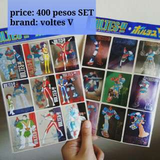 voltes V stickers 1999 set REPRICED
