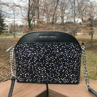 Readystock. Original Michael Kors Emmy Md Printed Star in Purple