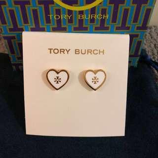 Tory Burch Logo Heart Earrings