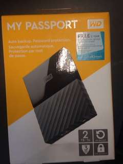 Brand new WD MY PASSPORT (2TB)