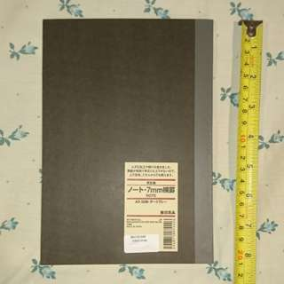 Original Dark Chocolate Brown Muji Notebook from Japan
