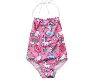 Pink Unicorn 🦄 Swimming Costume Summer Beach holiday Resort  Wear Kids Girls- 2 to 8 yes old