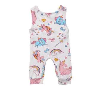 Unisex baby unicorn 🦄 beach wear summer holiday resort swimwear sleeveless one piece romper
