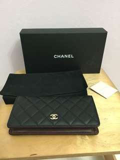 Chanel L-Yen Wallet Lamb skin