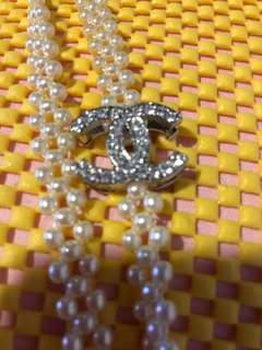 Chanel pearl knot necklace