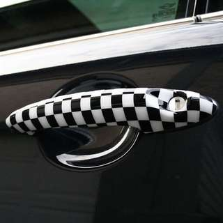Original Mini Cooper R56 Checkered Door Handle (NEW)