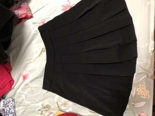 black tennis skater skirt