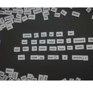 Poetry Magnets (2 Kits + 1 magnet board)