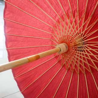 Wedding Paper Umbrella/ Parasol (Red, free delivery to WM)
