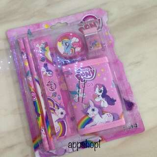 Pony / unicorn wallet stationary set - children party gift, goodies bag, goody bag packages