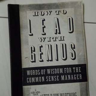 How to lead with Genius
