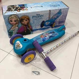 🌈SALE!!💎Brand New Disney FROZEN TWIST SCOOTER Blue Purple For Girl