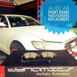 Audi A6 : Front_Brake_Pads & Sensors Replacement