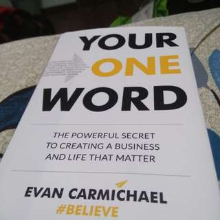 Your One Word Brand new book signed by Evan himself