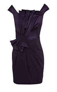 Worn Once Karen Millen Satin Black Cocktail Dress