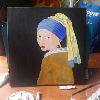 Girl with the pearl earring by Johannes Vermeer (replica)