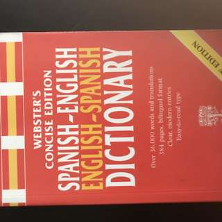 Spanish - English / English - Spanish translation Book