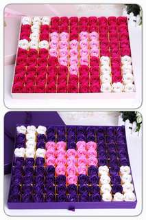 ✔️Instocks✔️🌹🌷99 stalks of handmade soap rose gift box 🌹🌷Ideal for Valentine's Day/Marriage Proposal/Birthday/Anniversary 😁 Colour : Romantic Purple & Sweet Pink 😄