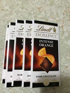 Lindt Excellence Intense Orange Dark Chocolate,original price $35.9