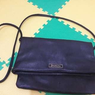 sling bag bisa juga clutch stradivarius hitam