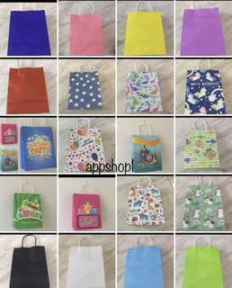 Assorted printing paper bag- event door gift, party goodies bag, goody bag packages carrier