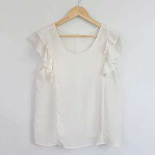 Lowry's Farm Semi Sheer Off-White Blouse Top
