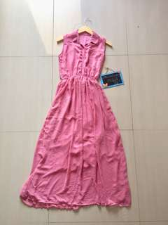 Long dress kutung saku