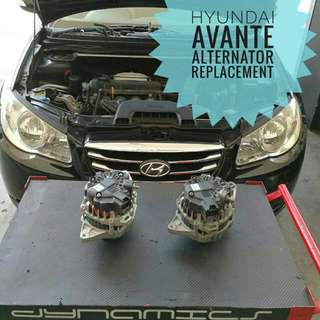 Hyundai Avante : Original Alternator Replacement