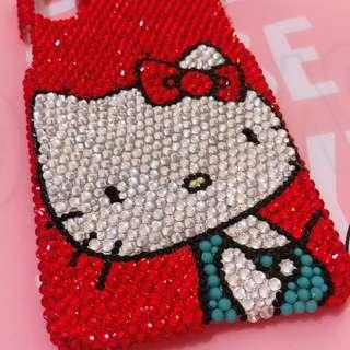 🚚 Iphone x手機殼,紅色kitty