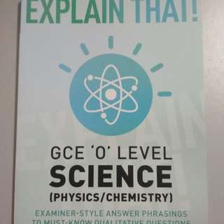 O'lvl Combined Science Guidance book