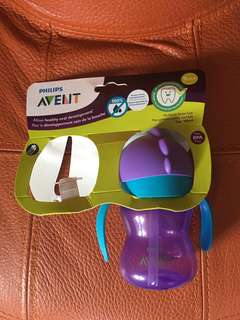 *Free Postage 📬* Philips Avent Straw Cup Water Bottle 7oz