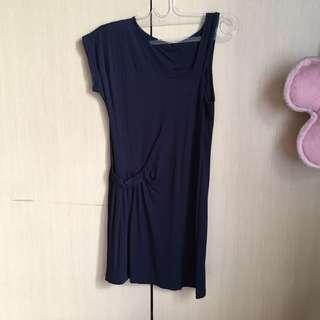 Dress biru navy mini
