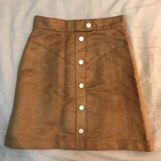 ✨全新 棕色麂皮短裙