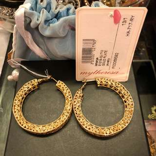 Isharya gold plated hoop earrings