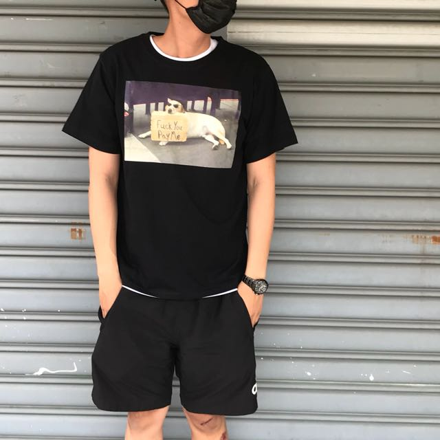 2047 Agari 流浪 狗仔 墨鏡狗 t恤 短袖 短t