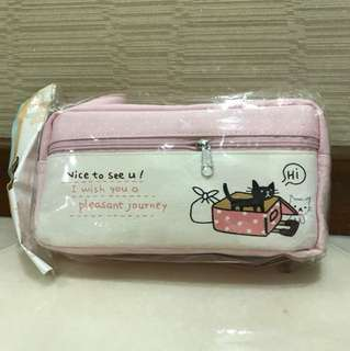 Cat Cartoon Pencil Case/ Cosmetic Pouch