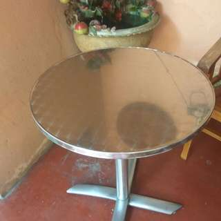 Round Table foldable stainless steel