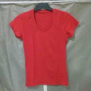 Tshirt simple tebal tidak menerawang