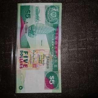 $5 SINGAPORE
