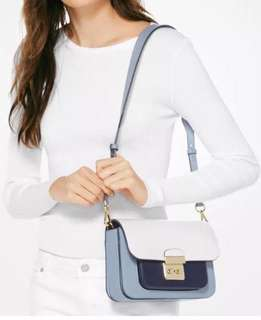 Michael Kors Sloan Editor Colour-Block Shoulder Bag