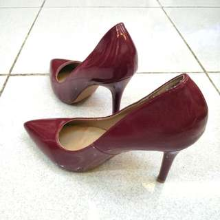 Maroon stiletto- 3 inches