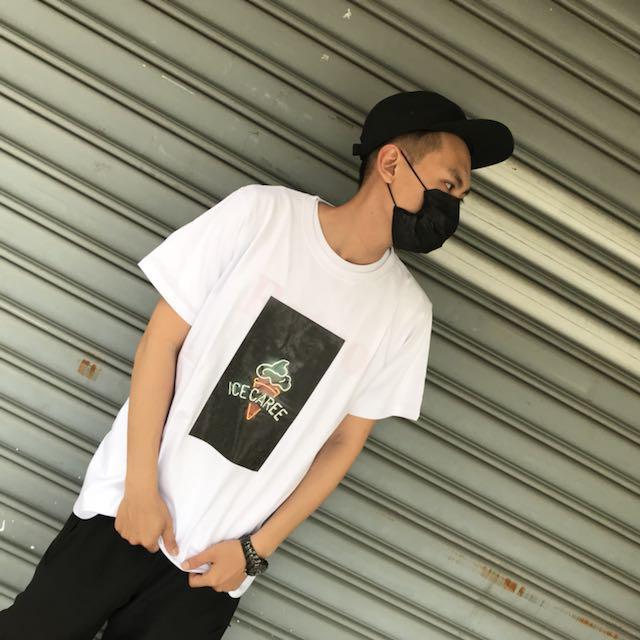 2057 Agari 燈泡 ice 螢光色系 短袖 T恤 短t