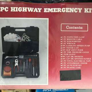 34pcs Emergency Tool Kit